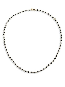 Mija - Spinel Beaded Chain Necklace