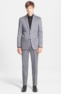 John Varvatos Star Usa - Trim Fit Stretch Cotton Suit