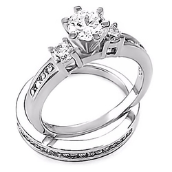 1000 Jewels - Wedding Ring Set