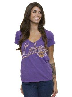 Junk Food - Los Angeles Lakers V-Neck T-Shirt