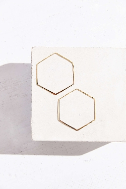 Urban Outfitters - Large Hexagon Hoop Earring