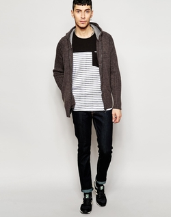 Ringspun - Ribbed Zip Through Cardigan