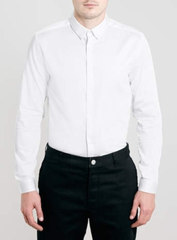 Topman - Long Sleeve Egyptian Cotton Smart Shirt
