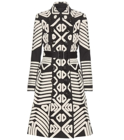 Burberry Prorsum - Crochet Appliqué Cotton Trench Coat
