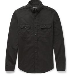 Tom Ford - Cotton-Poplin Military Shirt