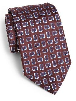 Armani Collezioni  - Geometric Cube Print Tie