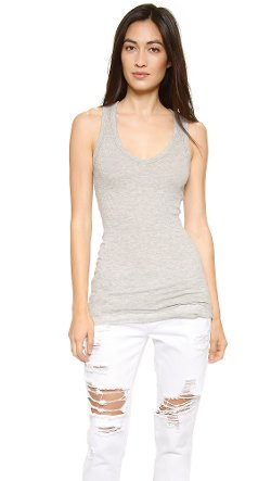 James Perse  - Cashmere Rib Double Layer Tank