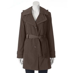 Towne By London Fog - Hooded Trench Raincoat