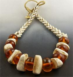 Beadstore.com - Camel Bone and Amber Necklace