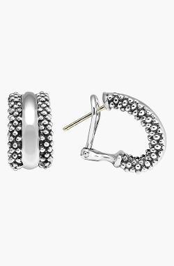 Lagos - Caviar Sterling Silver Hoop Earrings