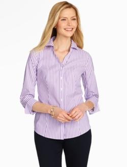 Talbots - The Perfect Three Quarter Sleeve Stripe Shirt