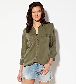 American Eagle Outfitters - Safari Button Down Shirt