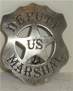 Collectible Badges - Costume Badge Deputy US Marshal