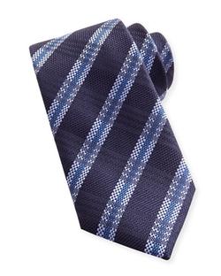 Brioni - Striped Plaid Woven Tie