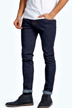 Boohooman Night  - Raw Skinny Smart Jeans