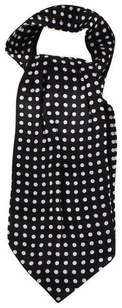 Knightsbridge Neckwear  - Black/White Polka Dot Silk Tie