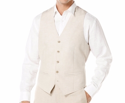 Cubavera - Solid Linen-Blend Vest