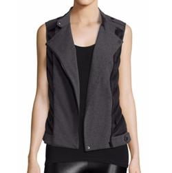 Blanc Noir  - Dual-Media Moto Vest