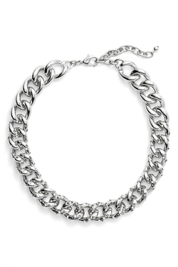 Nordstrom - Encrusted Curb Chain Collar Necklace