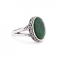 Sole Society - Etched Round Stone Ring