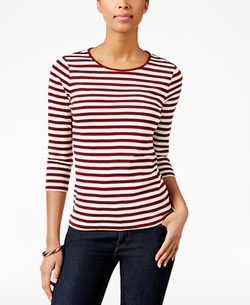 Charter Club  - Petite Striped Top
