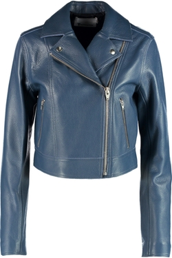 T By Alexander Wang - Textured-Leather Biker Jacket
