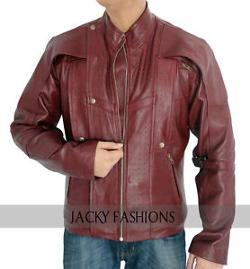jackyfashions - Guardians of the Galaxy Chris Pratt Red Leather Jacket
