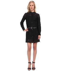 MICHAEL Michael Kors  - Petite L/S Button Down Eyelet Dress