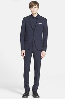 Neil Barrett  - Trim Fit Stretch Wool Suit