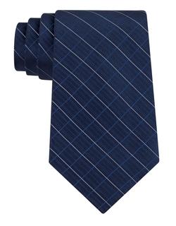 Calvin Klein - Etched Windowpane Plaid Silk Tie