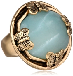 Barse  - Amazonite Multi Butterfly Ring