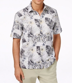 Tasso Elba - Linen Tropical Short-Sleeve Shirt