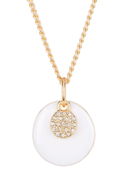 Nordstrom Rack - Enamel & Pave Discs Pendant Short Necklace