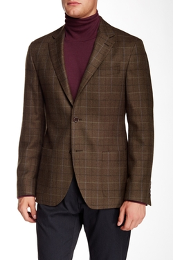 Ike Behar  - Plaid Notch Lapel Two Button Wool Sportcoat