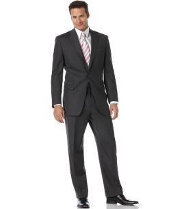 Lauren by Ralph Lauren  - Suit Total Comfort 2-Button Charcoal Wool