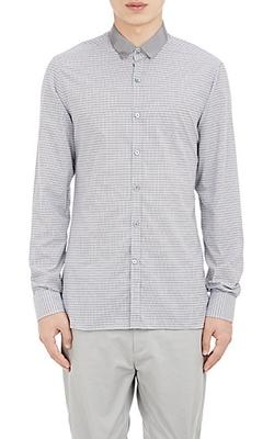 Lanvin - Grosgrain-Collar Poplin Shirt