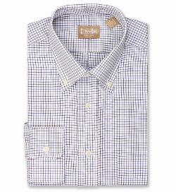 Gitman Brothers - Brown and Navy Tattersall Shirt