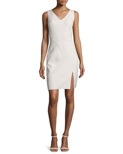 Halston Heritage - Sleeveless Seamed Sheath Dress