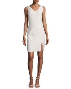 Halston Heritage - Sleeveless Seamed Sheath Dress