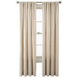 JCPenney Home - Holden Rod-Pocket Cotton Curtain Panel