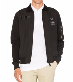 Fred Perry - X Art Comes First Contrast Sleeve Harrington Jacket