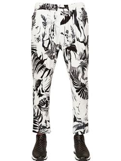 Roberto Cavalli - Tropical Crepe Jersey Pants