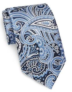 Burma Bibas  - Large Paisley-Print Silk Tie