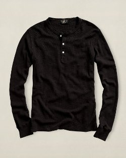 Ralph Lauren - Long-Sleeved Waffle Henley Shirt