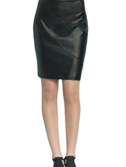 Clara Sunwoo - Liquid Leather Skirt