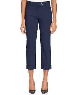 Style & Co. - Slim-Fit Cuffed Capri Pants