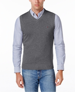 Tommy Hilfiger  - Solid V-Neck Sweater Vest