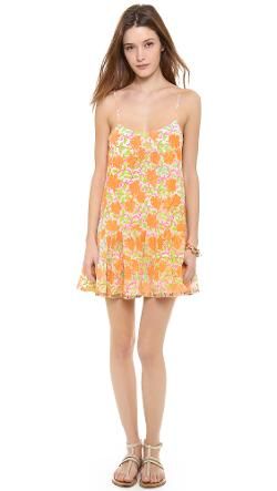 Juliet Dunn  - Floral Strappy Cover Up Dress