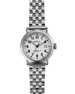 Shinola	  - The Runwell Stainless Steel Watch with Bracelet Strap
