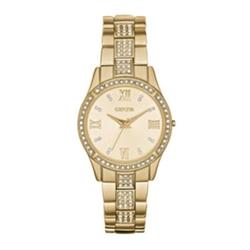 Geneva - Crystal-Accent Bracelet Watch